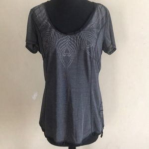 Lululemon grey top bottom draw string sports